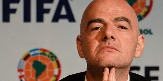 Le nouveau président de la FIFA Gianni Infantino.