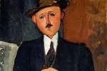 CH378367 Homme assis (appuyé sur une canne) 1918 (huile sur toile) par Modigliani, Amedeo (1884-1920);126x75 cm; Collection privée;(Add.info .: Homme Assis (Appuye sur juin Canne););Images de Photo © Christie;Italien, hors droit d'auteur CH378367 Seated Man (Leaning on a Cane) 1918 (oil on canvas) by Modigliani, Amedeo (1884-1920); 126x75 cm; Private Collection; (add.info.: Homme Assis (Appuye sur une Canne);); Photo © Christie's Images; Italian, out of copyright