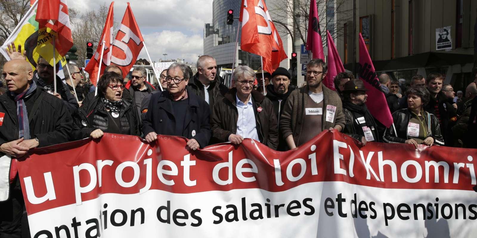 Manifestation contre la loi travail le 5 avril à Paris.