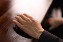 La main du «geminoid» a été calquée sur celle du roboticien Hiroshi Ishiguro.