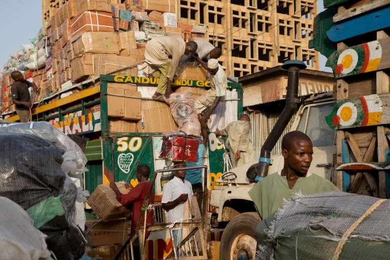 Un marché à Kano, au Nigeria, en 2014.