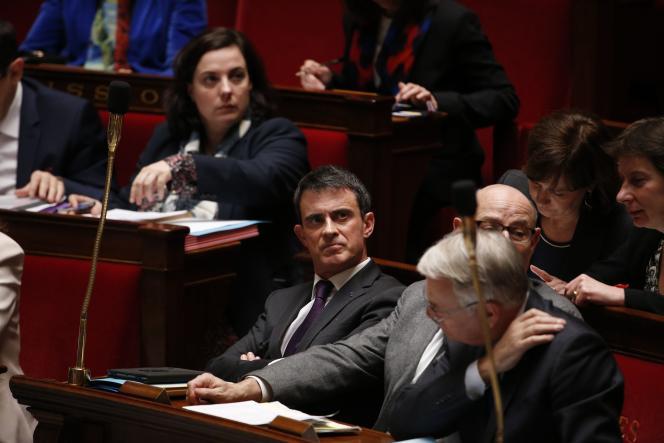 Manuel Valls à l'Assemblée, le 6 avril.