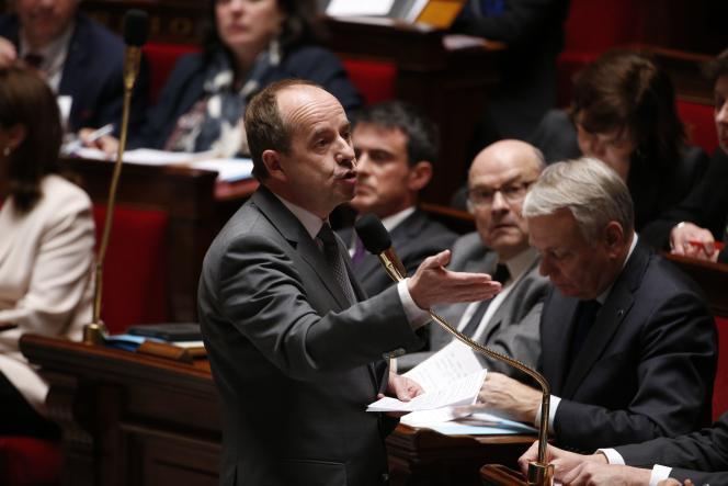 Jean-Jacques Urvoas, ministre de la justice, lors des questions au gouvernement, mercredi 6 avril.