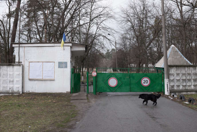 Au nord-ouest de Kiev, dans le quartier de Pushcha-Vodytsia, le dispensaire ukrainien de protection radiologique de la population, niché au milieu de la forêt, le 22 mars.