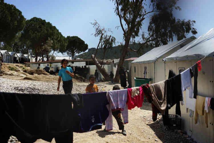 Le camp Kara Tepe, situé près du port, accueille les migrants arrivés avant le 20 mars.