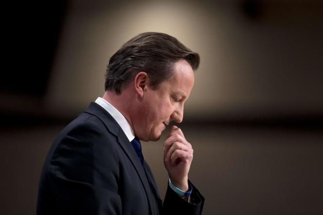 David Cameron lors de son discours le jour de l'annuelle Conférence du Parti Conservateur à Birmingham,  le 1er octobre 2014.