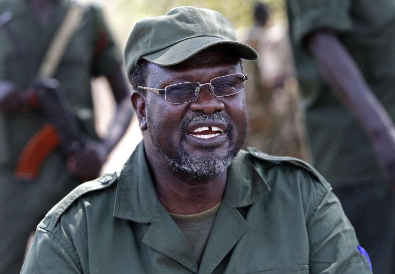 Riek Machar, en janvier 2014 à Jonglei State au Sud Soudan.
