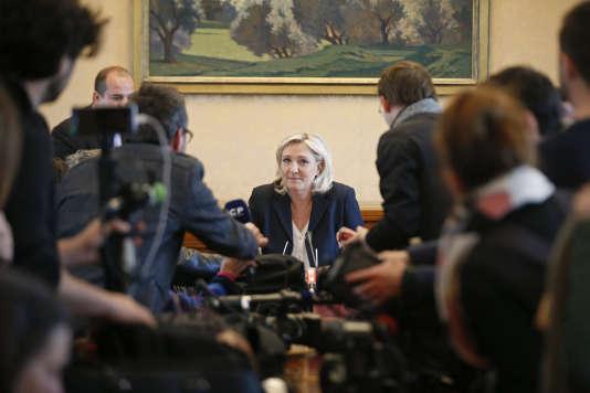 Marine Le Pen a assuré mardi que le FN n'avait que «5% du temps d'antenne politique».