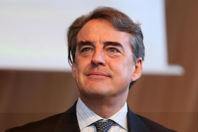 Alexandre de Juniac, PDG d'Air France-KLM, le 7 avril, à Paris