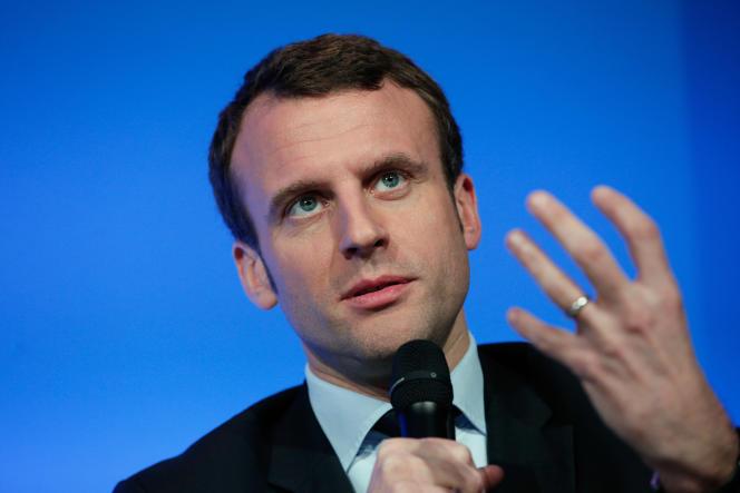 Le ministre de l'economie  Emmanuel Macron à Paris le 16 avril 2016