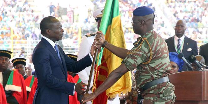 Patrice Talon, le nouveau président du Bénin, lors de son investiture, le 6 avril à Porto-Novo.