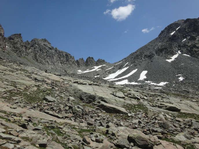 Le col de la Traversette (Hautes-Alpes), qu'Hannibal et son armée auraient traversé en 218 avant Jésus-Christ.
