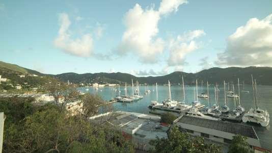 Vue des îles Vierges britanniques.