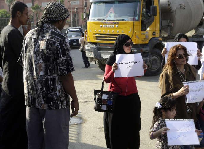 Manifestation contre le harcèlement sexuel  au Caire en juin 2014.