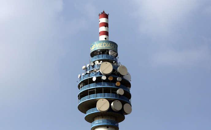 La tour de Mediaset à Milan, le 7 avril 2016.