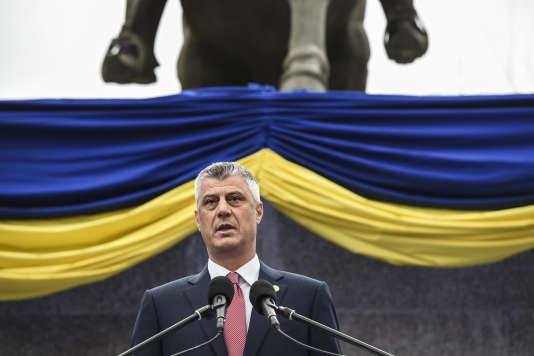 Hashim Thaci, le 8 avril à Pristina, au Kosovo.