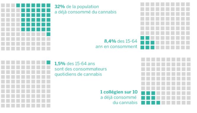 32 % de la population a déjà consommé du cannabis.