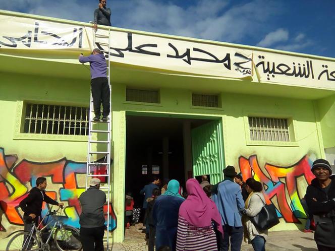 L'université populaire Mohamed Ali Hammi dans le quartier de Sidi Hassine, dans la banlieue de Tunis, le 13 février 2016.