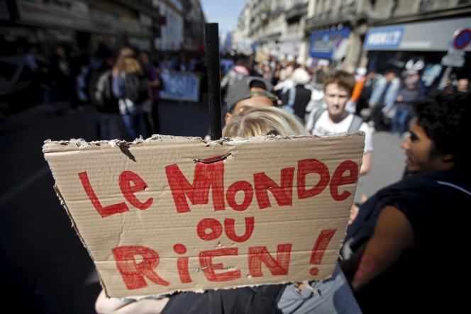 Lors des manifestations contre le projet de la loi travail, en avril, à Marseille.