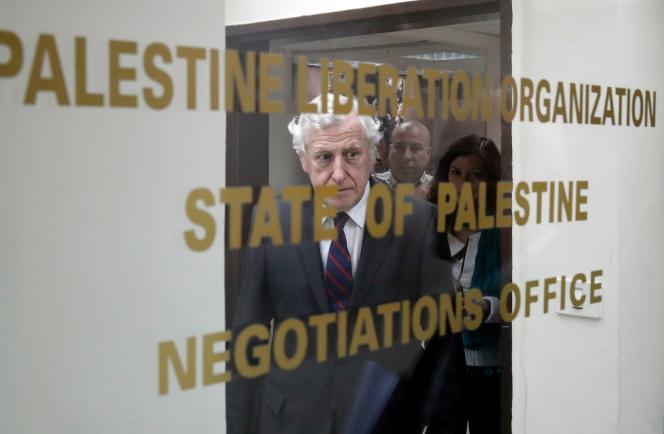 Pierre Vimont à Ramallah le 15 mars.