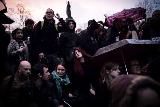 Le 9 avril, place de la République à Paris.