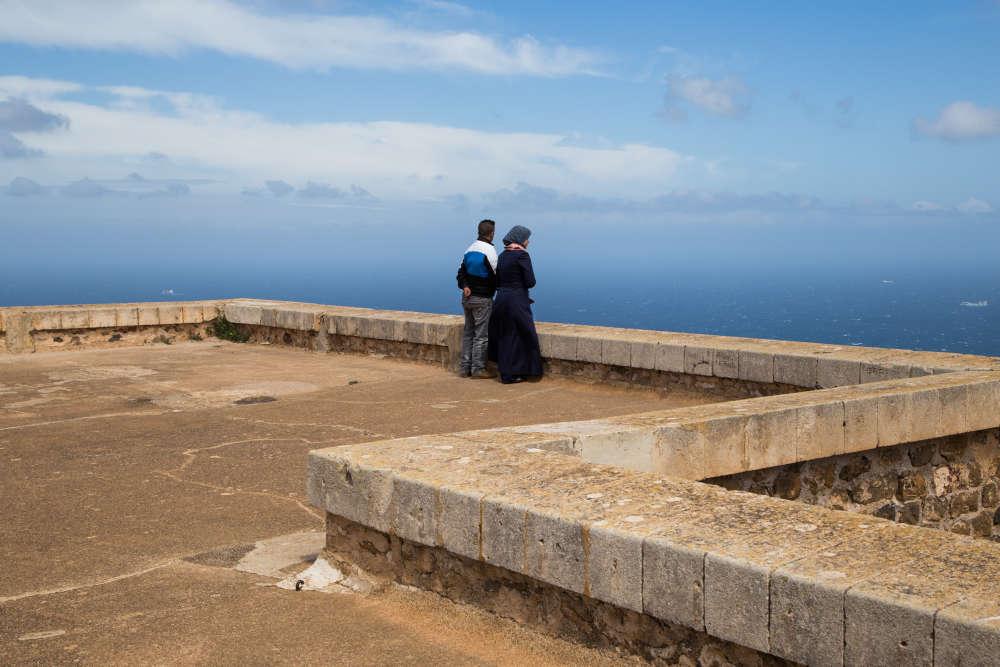 Au fort de Santa-Cruz.
