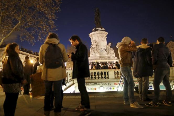 A la Nuit debout, place de la République à Paris le 11 avril.