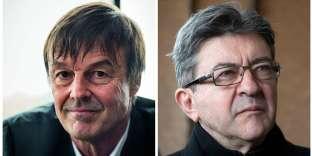 Nicolas Hulot et Jean-Luc Mélenchon.