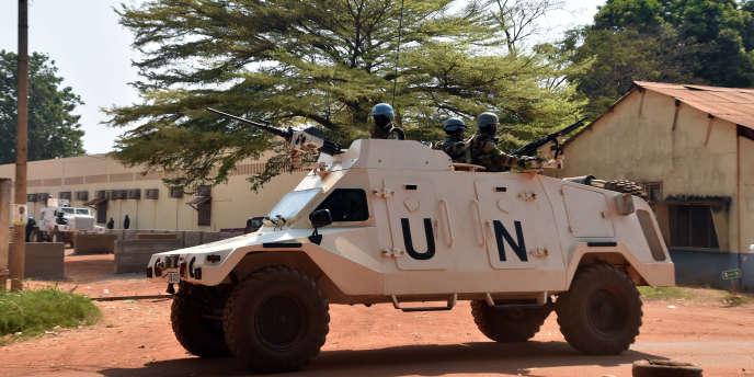 Patrouille de l'ONU à Bangui le 2 janvier.