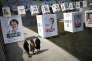 Affiches des candidats aux élections législatives dans le centre de Séoul, le 8 avril.