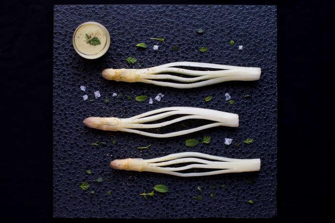 Les asperges blanches de Germain Bourré.
