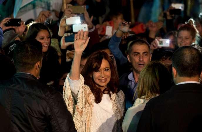 Cristina Fernandez de Kirchner, le 11 avril, à Buenos Aires.