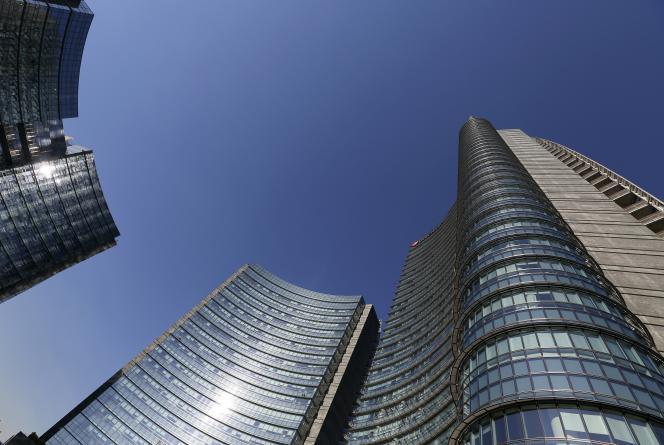 Le siège d'Unicredit, à Milan, en 2016.