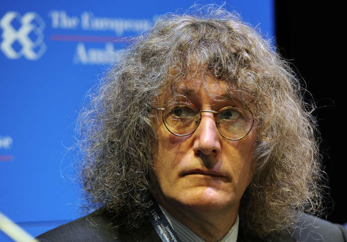 Gianroberto Casaleggio, le 8 septembre 2013 à Cernobbio (Italie).