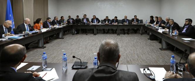 Pourparlers de paix sur la Syrie à Genève le 17 mars.