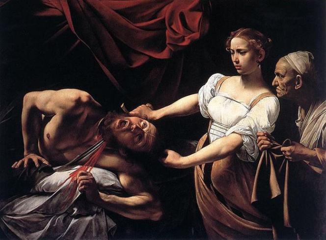 Le tableau du Caravage représentant aussi Judith et Holopherne conservé à la Galleria nazionale di arte antica de Rome.