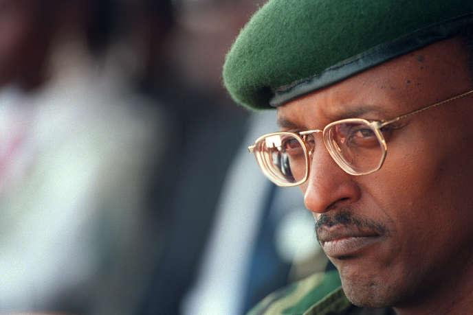 Le général Paul Kagame, leader du Front Patriotique Rwandais (FPR) et actuel chef de l'Etat, à Kigali le 19 juillet 1994.