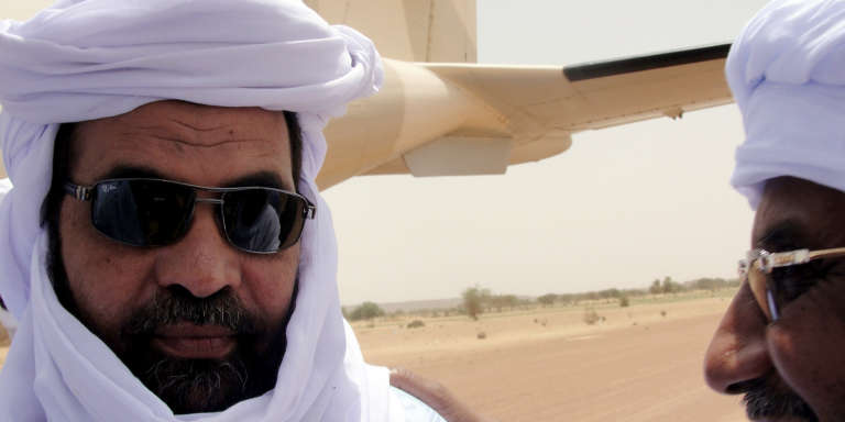 Iyad Ag-Ghali, ancien chef rebelle touareg devenu leader du groupe djihadiste Ansar Dine, le 7 août 2012 à Kidal (Mali).