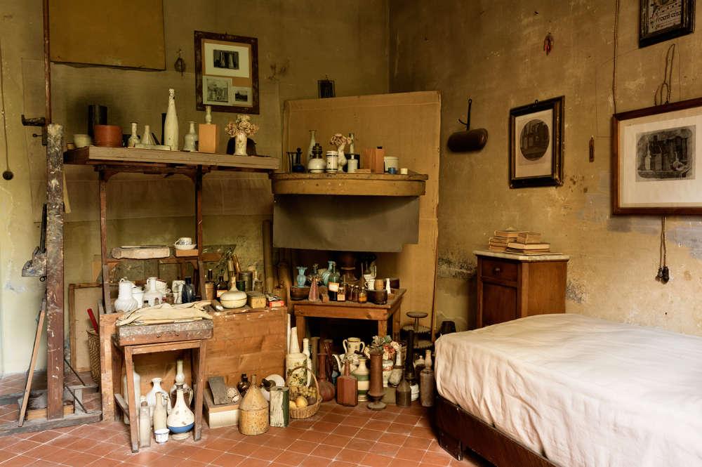 L'atelier du peintre Giorgio Morandi, à Bologne, devenu un musée.