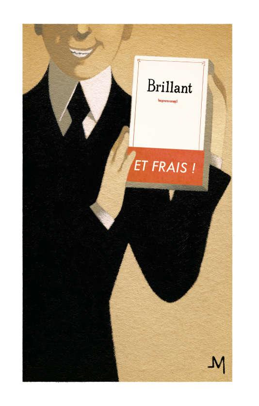 Un dessin de Jean-François Martin pour « Le Monde des livres », repris dans « Défense et illustration de Prosper Brouillon ».