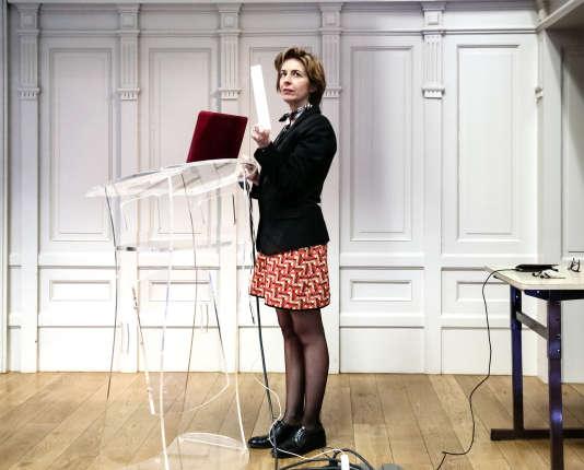 Cécile Dejoux, au CNAM de Lille, le 1er avril.