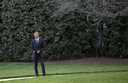 Barack Obama, le président américain, à la Maison Blanche le 13 avril.