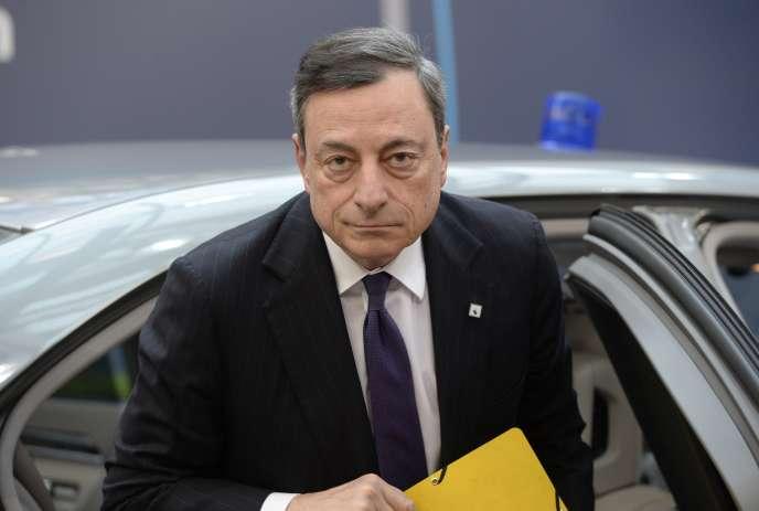 Le président de la BCE Mario Draghi à Bruxelles le 17 mars 2016.