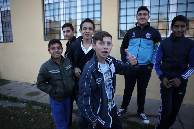 Dans une école à Fantanele Cojasca, en Roumanie, en novembre 2014.