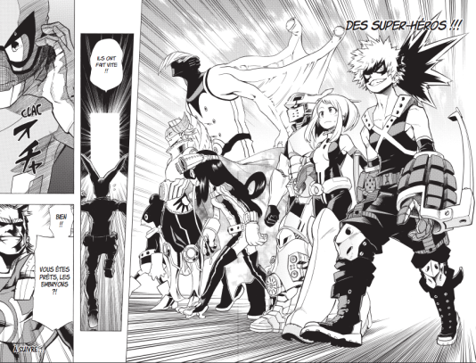 """Une fois entrés à la """"Hero Academia"""", les élèves peuvent choisir leur costume de super-héros."""