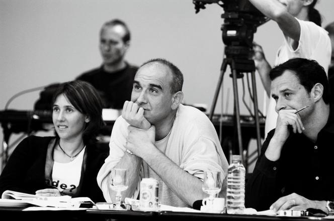 Lors du casting de la STAR ACADEMY 5 à Marseille, Alexia Laroche-Joubert (Productrice de l'Èmission pour Endemol), Pascal Nègre et Franck Firmin-Guyon (Directeur des divertissements de TF1), jurys, auditionnent les candidats.