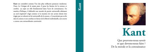 """Kant, collection """"Apprendre à philosopher"""", vol. 6 (""""Le Monde"""")."""