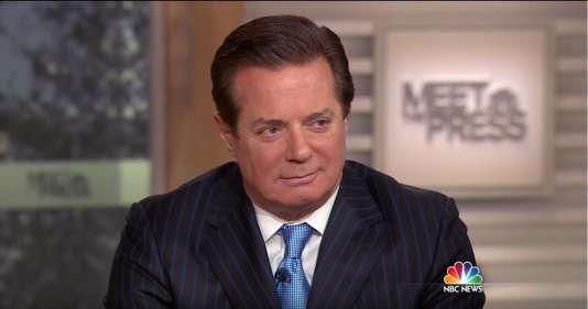 """Paul Manafort sur le plateau de """"Meet the Press"""", l'émission politique de la chaîne NBC, le 10 avril."""