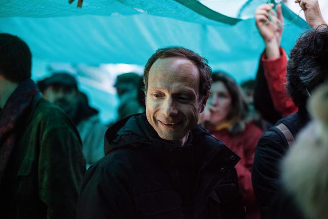 Frédéric Lordon, le 9 avril, place de la République, à Paris.