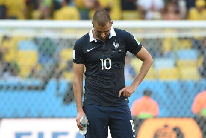 Karim Benzema, lors du Mondial 2014 au Brésil.
